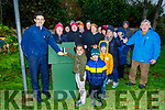 Gda Aidan O'Mahoney and Ava Byrne light the Crib in Manor Village on Sunday.<br /> Front l to r: Gda Aidan O'Mahoney and Ava Byrne with Conor McCarthy Farrell and Seanie McCormack