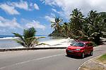 Seychelles, Island Mahe, Anse Royale: coastal road - car
