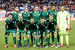 Real Betis's players during La Liga match between Atletico de Madrid and Real Betis at Vicente Calderon Stadium in Madrid, Spain. January 14, 2017. (ALTERPHOTOS/BorjaB.Hojas)