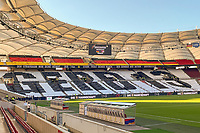 Choreographie als Hommage an Gerd Müller beim ersten Heimländerspiel von Hansi Flick - Stuttgart 05.09.2021: Deutschland vs. Armenien, Mercedes-Benz Arena Stuttgart