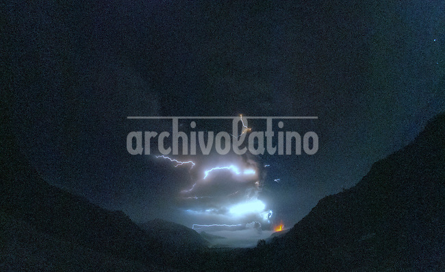 Images of the eruption at the Cordon Del Caulle, Andes, in the vicinity of Puyehue volcano, located in southern Chile, Region de Los Lagos.<br /> Osorno, the nearest major town is 60 km away. Villa La Angostura in Argentina, has received a large amount of ash, it has being the most affected place inhabited. Smaller towns near the epicenter located so far have not been affected by the eruption