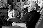 Retired miner and wife. South Kirkby Colliery Yorkshire England. 1979. Retired at home with wife.