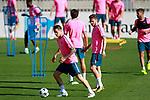 Atletico de Madrid's Fernando Torres (l) and Saul Niguez during training session. September 26,2017.(ALTERPHOTOS/Acero)