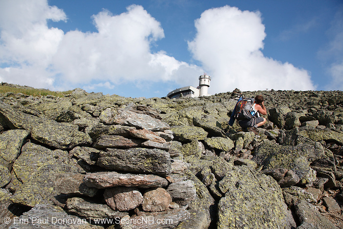 The summit of Mount Washington. Located in the White Mountains, New Hampshire USA.
