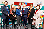 Michaela Harrington, student of Causeway Comprehensive School took 2nd place in the Kerry ETB Christmas Card Competition, at the ETB Offices in Centrepoint, Tralee on Friday. <br /> L to r: Cathal Fitzgerald (Principal Causeway Comprehensive School), Catherine Lyons (ETB), Michaela Harrington, Colm McEvoy (Chief Executive Officer ETB),  Marie Ann Browne and Ann O' Dwyer (Director of Schools, Youth and Music. ETB).