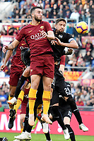 Bryan Cristante of AS Roma and Gaston Ramirez of Sampdoria compete for the ball during the Serie A 2018/2019 football match between AS Roma and UC Sampdoria at stadio Olimpico, Roma, November, 11, 2018 <br />  Foto Andrea Staccioli / Insidefoto