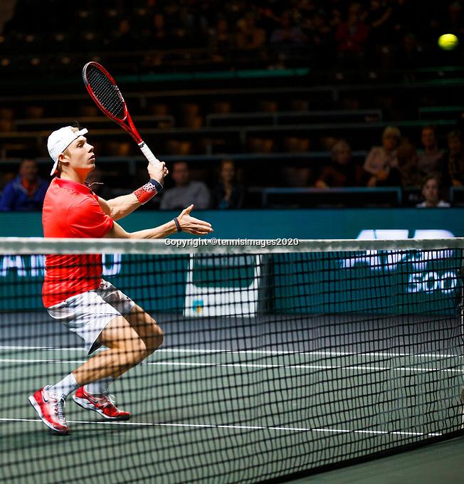 Rotterdam, The Netherlands, 11 Februari 2020, ABNAMRO World Tennis Tournament, Ahoy, <br /> Denis Shapovalov (CAN).<br /> Photo: www.tennisimages.com