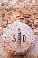 The symbol with the ladder. Scala Dei, Priorato, Catalonia, Spain