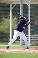 Minnesota Twins Robert Molina (91) during an Instructional League game against the Boston Red Sox on September 24, 2016 at CenturyLink Sports Complex in Fort Myers, Florida.  (Mike Janes/Four Seam Images)
