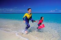 snorkelers, Chris & Jackie Bors, Bimini, Bahamas, Caribbean, Atlantic