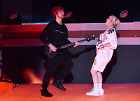 NEW YORK, NY- SEPTEMBER 25: Finneas and Billie Eilish at the 2021 Global Citizen Live Festival at the Great Lawn in Central Park, New York City on September 25, 2021. Credit: John Palmer/MediaPunch