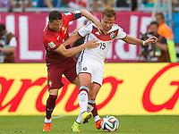 Cristiano Ronaldo of Portugal and Mario Gotze of Germany