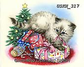 Kayomi, CHRISTMAS ANIMALS, WEIHNACHTEN TIERE, NAVIDAD ANIMALES,cats, paintings+++++,USKH317,#xa#