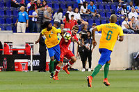 Harrison, NJ - Friday July 07, 2017: Rhudy Evens, Michael Petrasso during a 2017 CONCACAF Gold Cup Group A match between the men's national teams of French Guiana (GUF) and Canada (CAN) at Red Bull Arena.