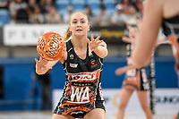 6th June 2021; Ken Rosewall Arena, Sydney, New South Wales, Australia; Australian Suncorp Super Netball, New South Wales, NSW Swifts versus Giants Netball; Maddie Hay of the Giants Netball passes the ball