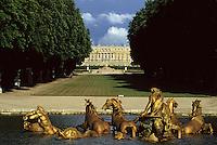 Europe/France/Ile-de-France/78/Yvelines/Versailles/Château de Versailles: Le bassin de Neptune et jardin du château
