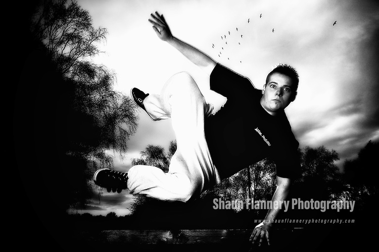 Pix: Shaun Flannery/shaunflanneryphotography.com...COPYRIGHT PICTURE>>SHAUN FLANNERY>01302-570814>>07778315553>>..8th March 2012..Active Revolution   .Nathan Kennedy.Free running, parkour