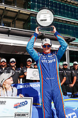 Verizon IndyCar Series<br /> Indianapolis 500 Qualifying<br /> Indianapolis Motor Speedway, Indianapolis, IN USA<br /> Sunday 21 May 2017<br /> Scott Dixon, Chip Ganassi Racing Teams Honda with the Verizon P1 Pole Award trophy and daughter Tilly<br /> World Copyright: Michael L. Levitt<br /> LAT Images<br /> ref: Digital Image levitt-0517-ims_50169