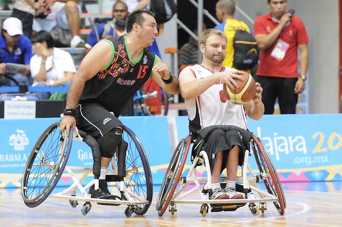 Bo Hedges, Guadalajara 2011 - Wheelchair Basketball // Basketball en fauteuil roulant.<br /> Team Canada competes in the bronze medal game // Équipe Canada participe au match pour la médaille de bronze. 11/18/2011.