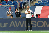 FOXBOROUGH, MA - JULY 9: New England Revolution II coach Clint Peay during a game between Toronto FC II and New England Revolution II at Gillette Stadium on July 9, 2021 in Foxborough, Massachusetts.