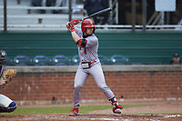 Ryan Hogan (6) of the St. John's Red Storm at bat against the Western Carolina Catamounts at Childress Field on March 13, 2021 in Cullowhee, North Carolina. (Brian Westerholt/Four Seam Images)