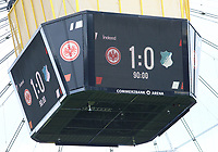 Endstand und erster Eintracht Saisonsieg - 18.08.2019: Eintracht Frankfurt vs. TSG 1899 Hoffenheim, Commerzbank Arena, 1. Spieltag Saison 2019/20 DISCLAIMER: DFL regulations prohibit any use of photographs as image sequences and/or quasi-video.
