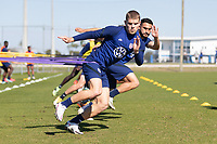 BRADENTON, FL - JANUARY 22: USMNT Field Activation during a training session at IMG Academy on January 22, 2021 in Bradenton, Florida.