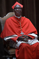 Cardinal Jean Zerbo from Mali;Pope Francis leads a consistory for the creation of five new cardinals  at St Peter's basilica in Vatican.  from countries  : El Salvador, Laos, Mali,Sweden and Spain.<br /> Cardinal Gregorio Rosa Chavez from Salvador;Cardinal Louis-Marie Ling Mangkhanekhoun from Laos;Cardinal Anders Arborelius from Sweden;Cardinal Jean Zerbo from Mali;Cardinal Juan José Omella of Spain on June 28, 2017
