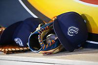 Corpus Christi Hooks gear during the game Wednesday, May 1, 2019, at Arvest Ballpark in Springdale, Arkansas. (Jason Ivester/Four Seam Images)