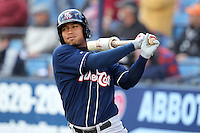 New Hampshire Fisher Cats outfielder Moises Sierra #43 during a game against the Reading Phillies at FirstEnergy Stadium on May 5, 2011 in Reading, Pennsylvania.  New Hampshire defeated Reading by the score of 10-5.  Photo By Mike Janes/Four Seam Images