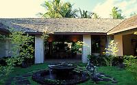 Fountain on the grounds of the Hotel Hana Maui