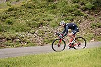 Bauke Mollema (NED/Trek-Segafredo) descending the Col de la Colombière (1618 m)<br /> <br /> Stage 8 from Oyonnax to Le Grand-Bornand (151km)<br /> 108th Tour de France 2021 (2.UWT)<br /> <br /> ©kramon