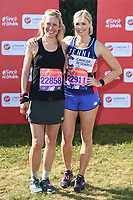 Sophie Raworth and Jenni Falconer<br /> at the start of the 2018 London Marathon, Greenwich, London<br /> <br /> ©Ash Knotek  D3397  22/04/2018