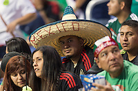 A Mexican team supporter wearing traditional sombrero during an international friendly at the, Wednesday, April 15, 2015 in San Antonio, Tex. USA defeated Mexico 2-0. (Mo Khursheed/TFV Media via AP Images)