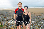Niamh Kissane and Aoife O'Driscoll after enjoying their Sunday morning swim in Banna.