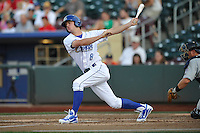 Omaha Storm Chasers outfielder Will Myers #8 swings during the game against the Reno Aces at Werner Park on August 3, 2012 in Omaha, Nebraska.(Dennis Hubbard/Four Seam Images)