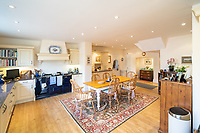 BNPS.co.uk (01202) 558833. <br /> Pic: SandersonYoung/BNPS<br /> <br /> The spacious kitchen.<br /> <br /> A quirky 'show home' for a brickwork owner where Lewis Carroll is believed to have stayed while writing some of his Alice in Wonderland books is on the market for just under £1m.<br /> <br /> Red Cottage is a striking Grade II listed property in Whitburn, Tyne and Wear, where Charles Dodgson, otherwise known as Lewis Carroll, regularly visited family.<br /> <br /> The unusual 179-year-old home was built to show off as many design features as possible, and has a walled garden and even an air raid shelter.