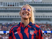 EAST HARTFORD, CT - JULY 5: Julie Ertz #8 of the USWNT laughs during a game between Mexico and USWNT at Rentschler Field on July 5, 2021 in East Hartford, Connecticut.