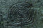 Labyrinth  Rock Carving, Nr Tintagel, Cornwall. England.