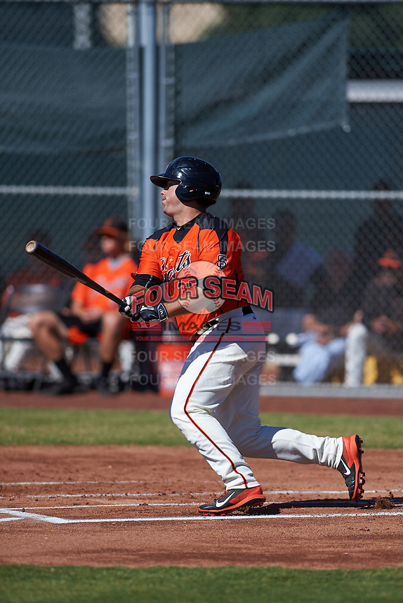 San Francisco Giants Dylan Davis (35) during an instructional league game against the Kansas City Royals on October 22, 2015 at the Giants Baseball Complex in Scottsdale, Arizona.  (Mike Janes/Four Seam Images)