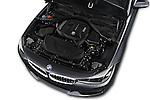 Car Stock 2017 BMW 3-Series-GT Sport 5 Door Hatchback Engine  high angle detail view