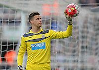 Karl Darlow of Newcastle United during the Barclays Premier League match between Newcastle United and Swansea City played at St. James' Park, Newcastle upon Tyne, on the 16th April 2016