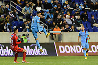 HARRISON, NJ - FEBRUARY 26: Valentin Castellanos #11 of NYCFC during a game between AD San Carlos and NYCFC at Red Bull on February 26, 2020 in Harrison, New Jersey.