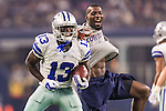 Dallas Cowboys wide receiver Lucky Whitehead (13) in action during the pre-season game between the Minnesota Vikings and the Dallas Cowboys at the AT & T stadium in Arlington, Texas. Minnesota defeats the Cowboys 28 to 14.