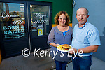 """Margaret and Eddie Canty of the Lixnaw Chipper, who were awarded """"The Best Little Chipper"""" in Munster,"""