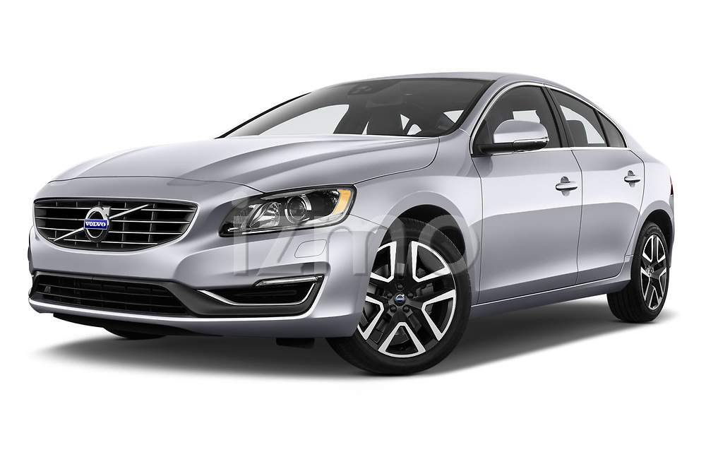 Stock pictures of low aggressive front three quarter view of 2018 Volvo S60 T5 4 Door Sedan Low Aggressive
