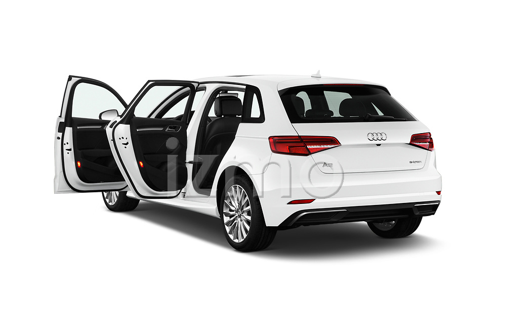 Car images close up view of 2018 Audi A3 Sportback e tron Premium  5 Door Hatchback doors