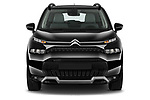 Car photography straight front view of a 2022 Citroen C3-Aircross Shine 5 Door SUV Front View