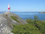 Child Enjoying View of Sea on Island of Kökar, Åland, Finland