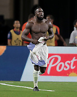 Arlington, TX - Saturday July 22, 2017: Jozy Altidore celebrates his goal during a 2017 Gold Cup Semifinal match between the men's national teams of the United States (USA) and Costa Rica (CRC) at AT&T stadium.
